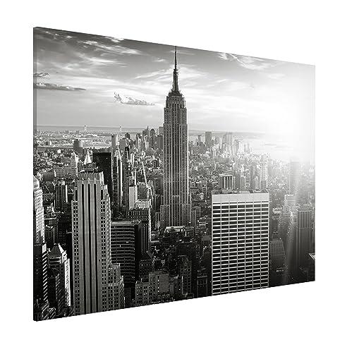 Magnettafel - Manhattan Skyline - Memoboard Quer 30x40cm Metall ...