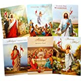 Amazon traditional polish christmas greeting cards with religious traditional polish easter greeting cards with glitter set of 6 m4hsunfo