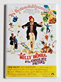 Willy Wonka and the Chocolate Factory Movie Poster Fridge Magnet (2 x 3 inches)