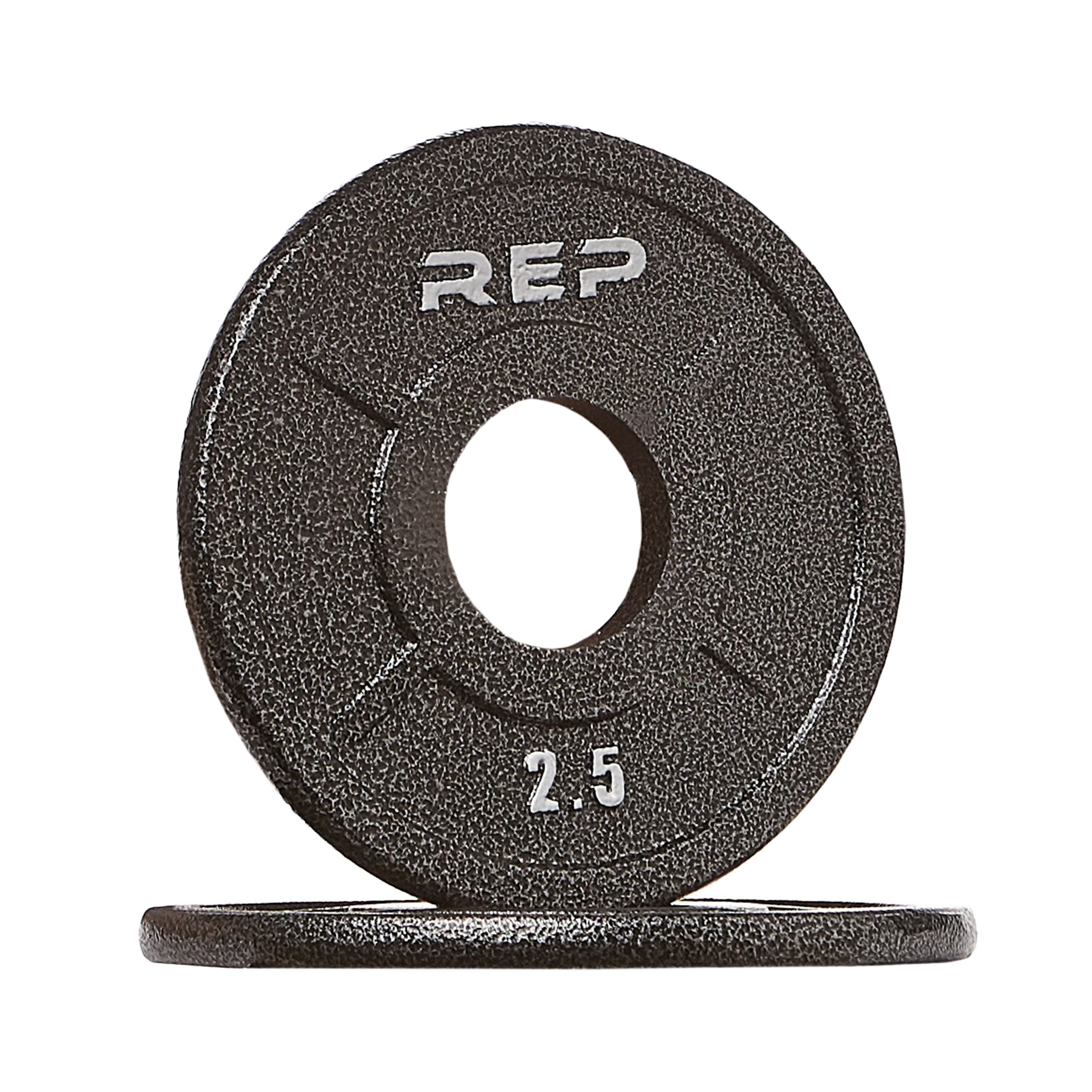 Rep Fitness Rep Black Equalizer Iron Olympic Plates, 2.5 lb Pair