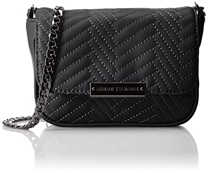 912d28a6461c A armani exchange quilted pu crossbody black clothing jpg 425x356 Armani  exchange cross body bag