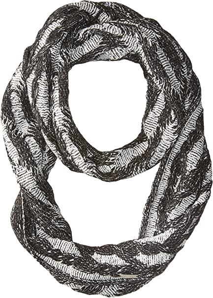 acf89088d Calvin Klein Women's Plaited Cable Infinty Scarf Black One Size at ...
