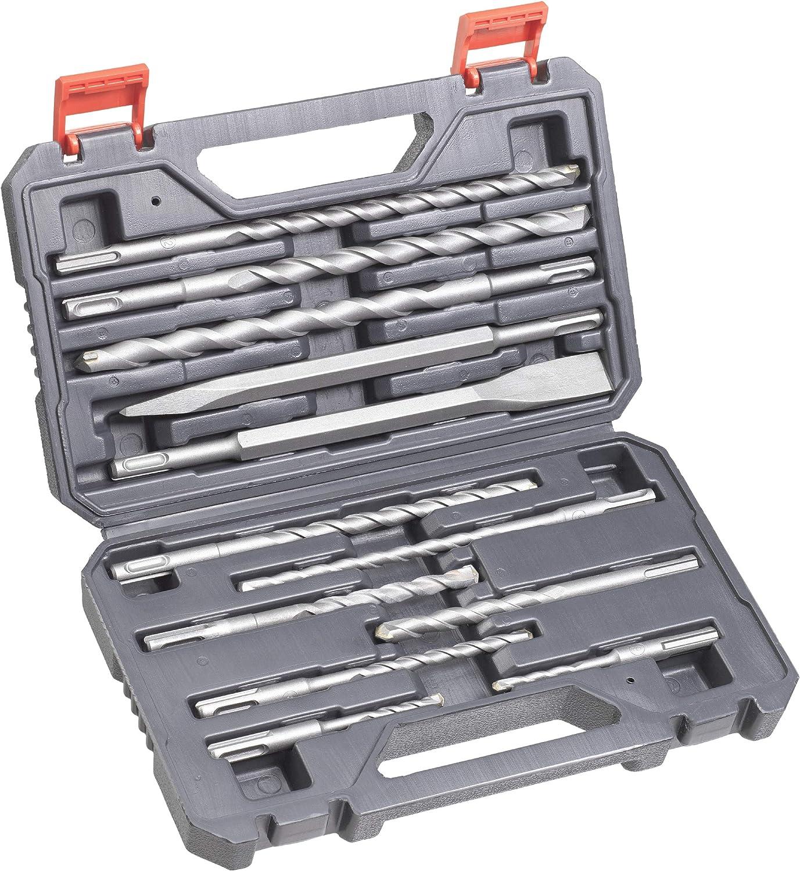 kwb 240290 SDS-Plus Hammer-Bohrer und Mei/ßel-Set Betonbohrer Satz im Kunstoff-Koffer 12-teiliger Stein-u
