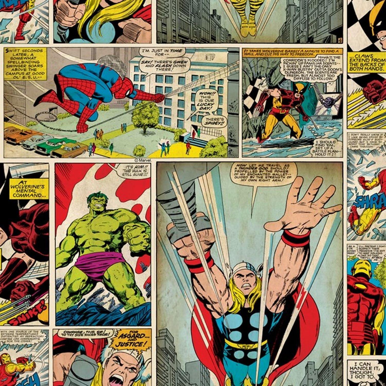 Amazon 70 264 Graham Andブラウンmarvel Comic Strip壁紙スパイダーマンアイアンマンハルク 壁紙