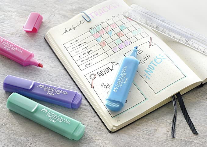Amazon.com : Faber-Castell 154681 Textliner Pastel Highlighter Pen (Pack of 8) : Office Products
