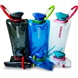 Collapsible Water bottle by AIRSTEED   (3 Pack) Flexible Collapsible Foldable Reusable Outdoor 700ml Water Bottles