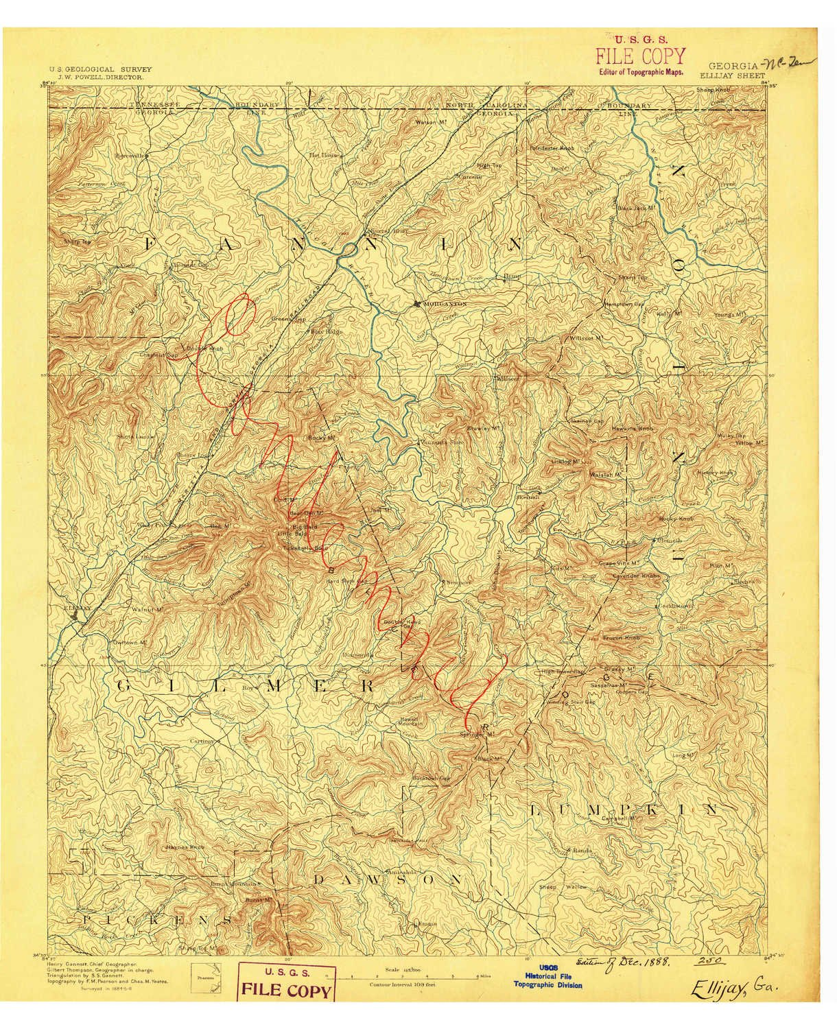 Amazon Com Yellowmaps Ellijay Ga Topo Map 1 125000 Scale