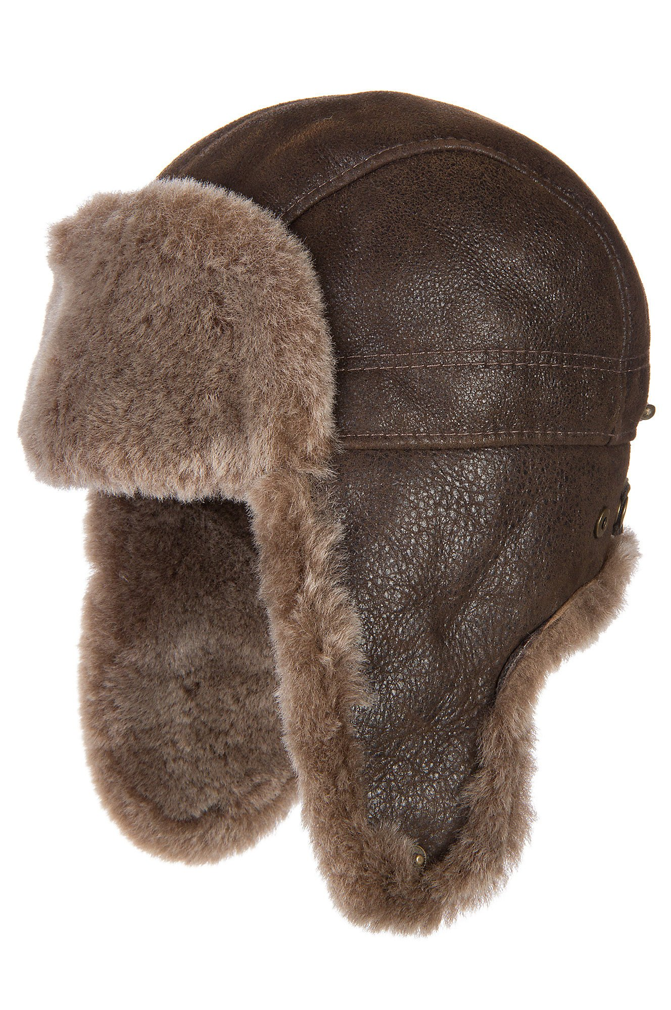 Shearling Sheepskin Trapper Hat by Overland Sheepskin Co