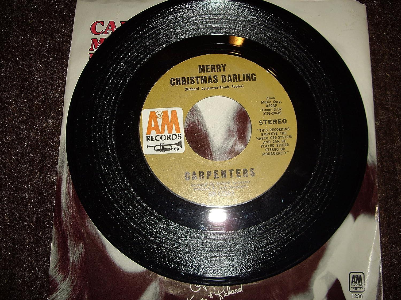 CARPENTERS - Merry Christmas Darling ~ Mr. Guder (Original 1972, 45 ...