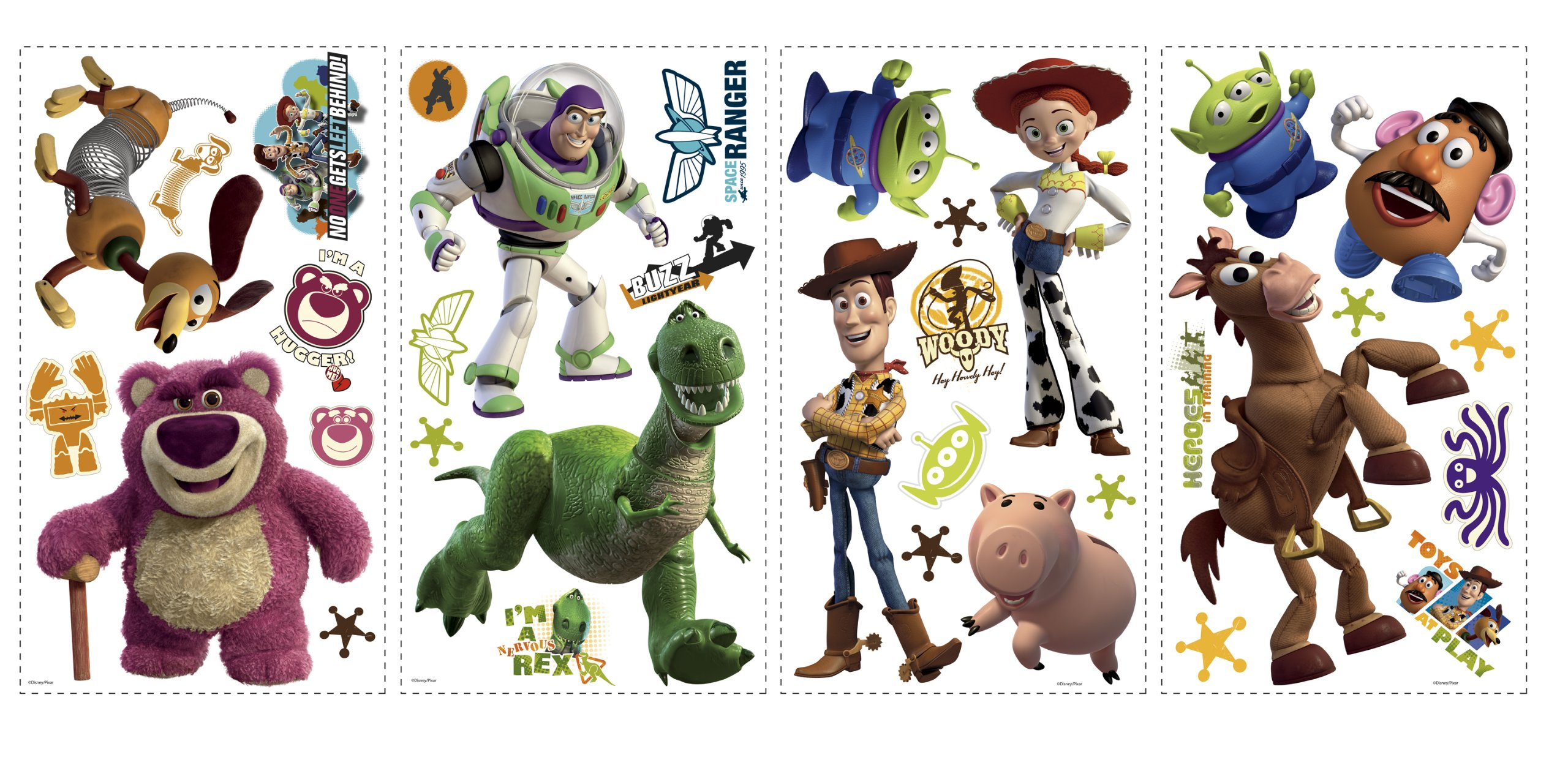 RoomMates RMK1428SCS Toy Story  Peel & Stick Wall Decals Glo-in Dark, 34 Count by RoomMates
