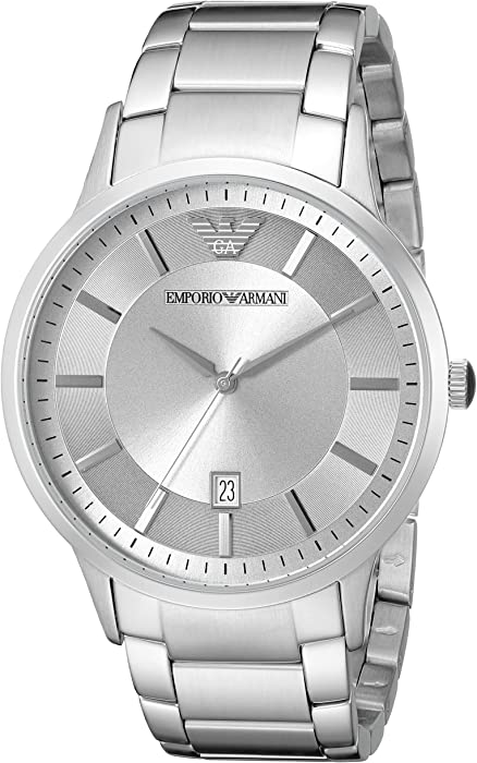 3d8f4b27abe2 Amazon.com  Emporio Armani Men s AR2478 Dress Silver Watch  Emporio ...