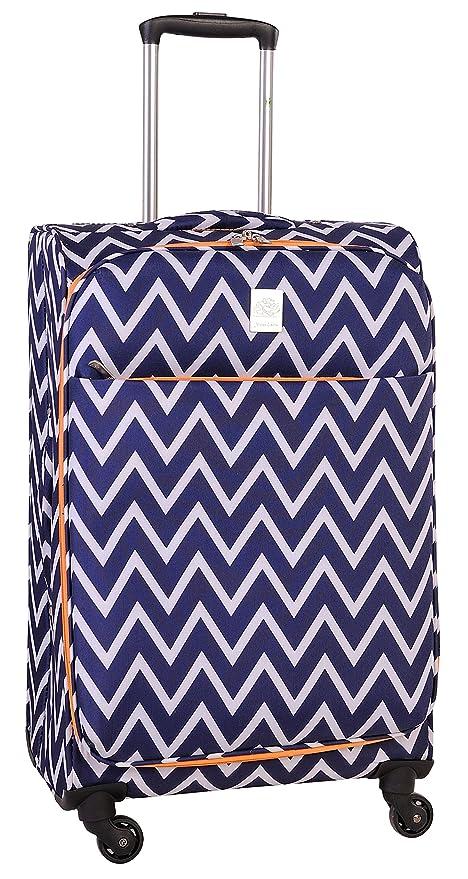 f2b2359b9263 Jenni Chan Aria Madison 28 Inch Spinner Luggage, Blue, One Size