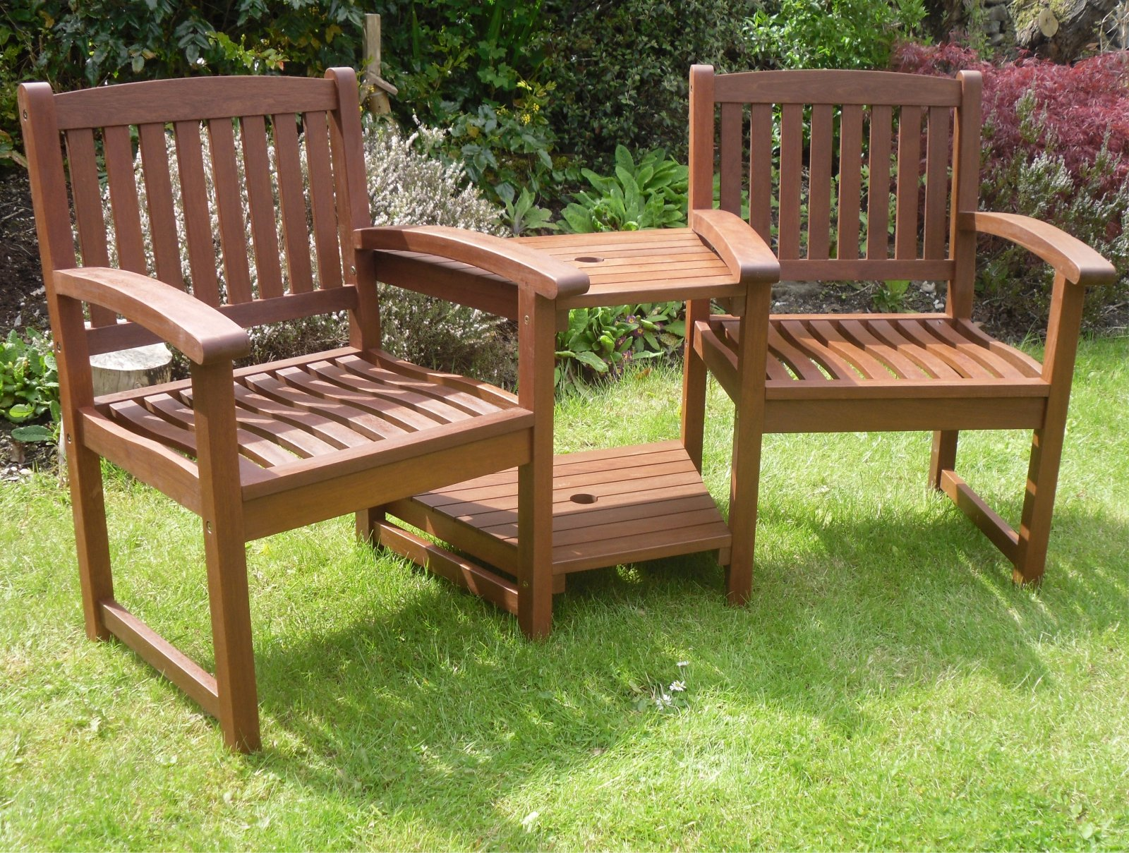 Solid Wooden Bench Seat: Amazon.co.uk
