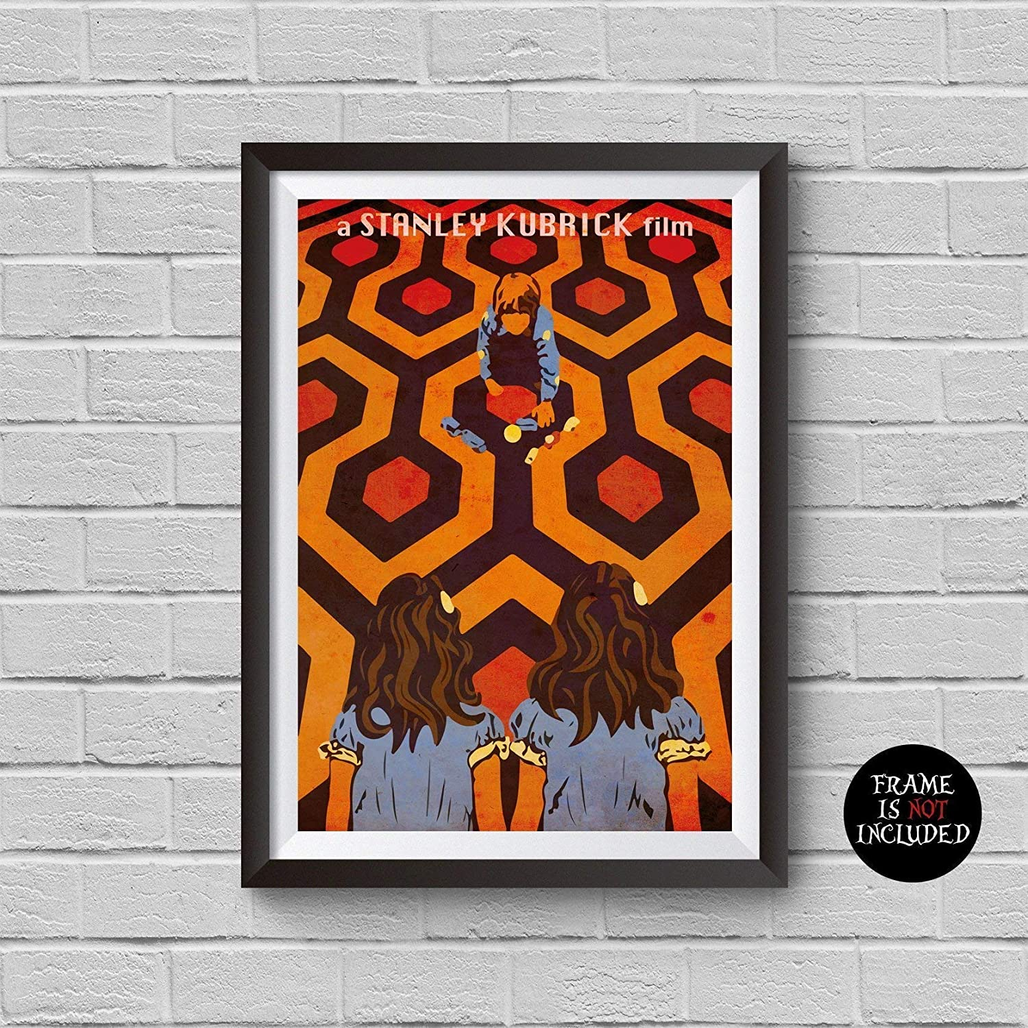 The Shining Alternative Minimalist Poster Stanley Kubrick Movie Print inspired Stephen King (novel) Jack Nicholson Illustration Home Decor Artwork Wall Art Hanging Gift Idea