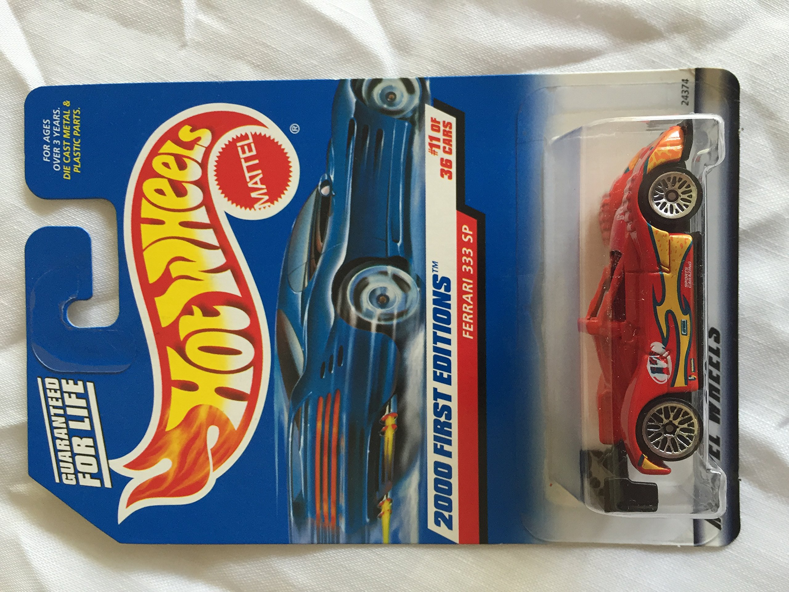 Hot Wheels 2000: First Editions : Ferrari 333 SP 1/64 scale (11 of 36 Collector #071)