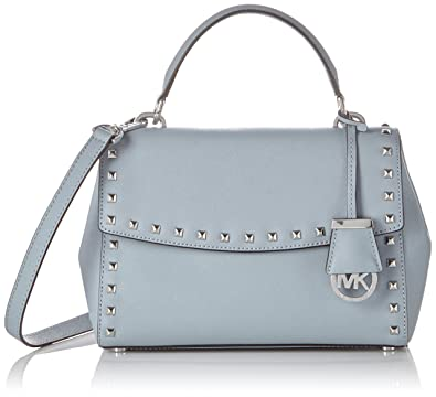 73b9593ae6 MICHAEL Michael Kors Women s Ava Stud Small Top-Handle Satchel Dusty Blue  Handbag