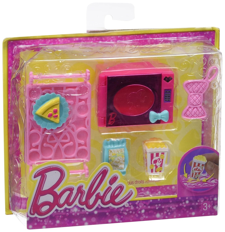 Reducción de precio Barbie - Mini accesorio casa glam: set microondas (Mattel X7932)