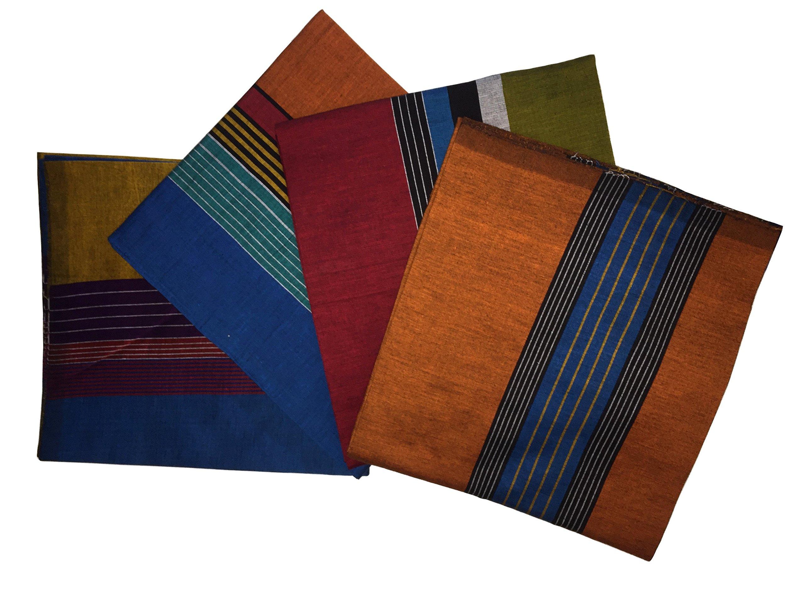ReenaHANDS Lungi Sarong Mens Handloom Lungi Sarong 100% Cotton. Stitched Tube Sarong. Assorted Color/Design by ReenaHANDS (Image #5)