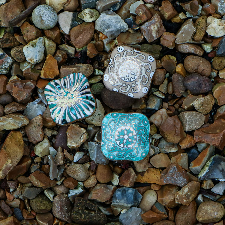 Trinca-Ferro Juego de 6 pomos cuadrados de cer/ámica para cajones