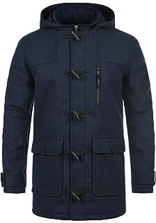 Redefined Rebel Mozart Duffle-Coat Abrigo Chaqueta De Lana para Hombre con Cuello Alto