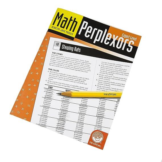 MindWare Math Perplexors Puzzle Book: (Expert Level): Greg Gottstein: 0033170310884: Amazon.com: Books
