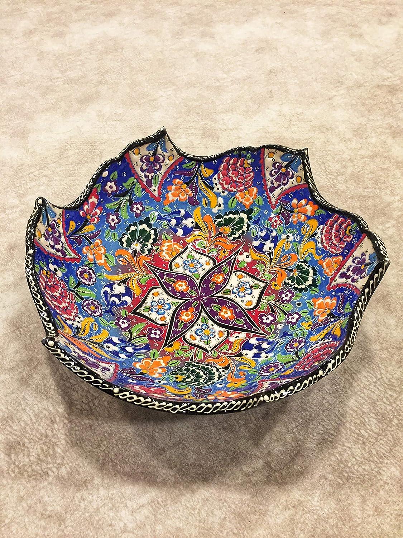Tapas Bowls Ceramic Salad Bowl IstanbulArtWorkshop 10 Decorative Ceramic Bowl Handmade Turkish Ceramic Large Colorful Bowl Large Ceramic Serving Bowl