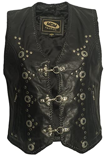 Chaleco de piel mujer, Bike–Chaleco, motocicletas, piel, Club–Chaleco, Chopper, Rocker Chaleco, Sotana, Vest, Leather Vest, Leather Waistcoat