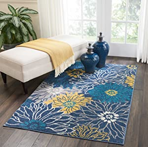 "Nourison Passion Area Rug, 3'9"" x5'9, Blue"