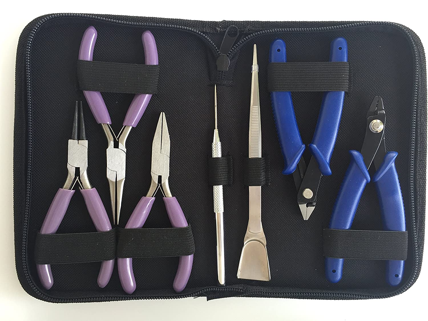 Jewelry Tools, High Grade Jewelry Pliers Including the Necessary Crimper, Organized Zipped Case for your Jewelry Making Tools Kem Products 4336836336