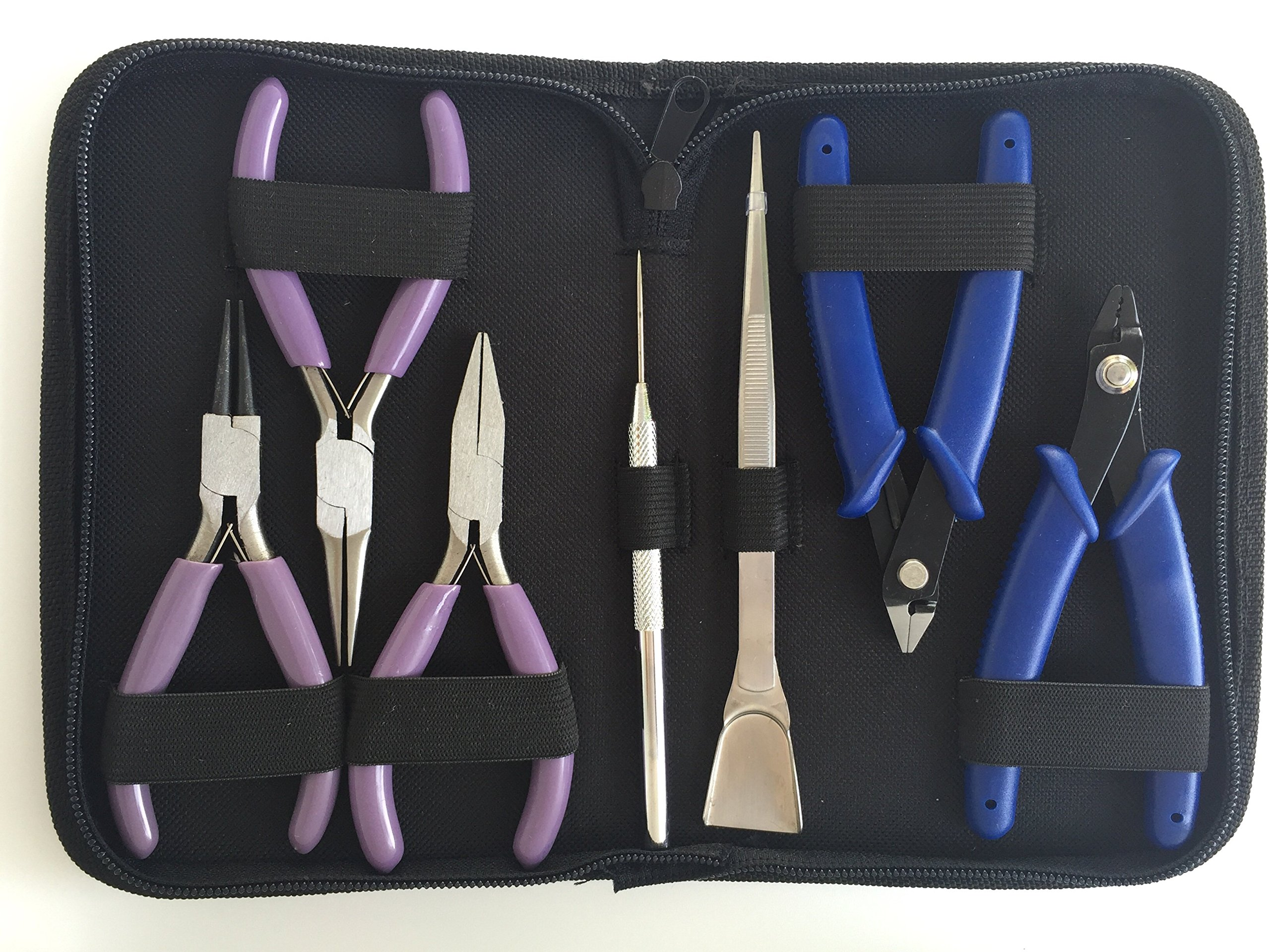 Kem Products Jewelry Tools, High Grade Jewelry Pliers Including the Necessary Crimper, Organized Zipped Case for your Jewelry Making Tools. These jewelry making supplies will help with beading, wire, or repairs by Kem Products