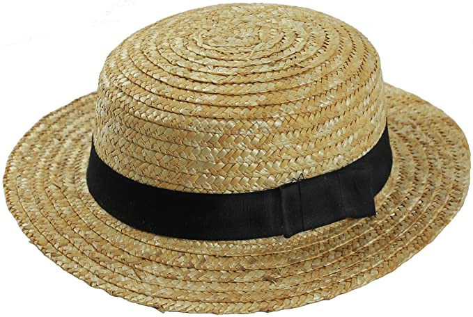 d2229908132 Amazon.com  24 X Straw Boater HAT Fancy Dress Accessory HAT with ...