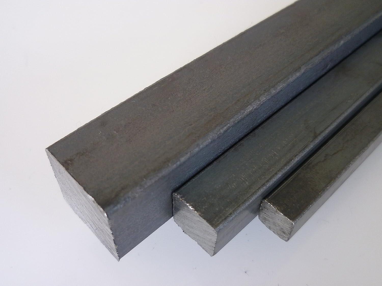 schwarz 3 St/ück /à 1995 mm B/&T Metall Stahl Vierkant 16 x 16 mm ST 37 gewalzt 6 Meter Stange geteilt