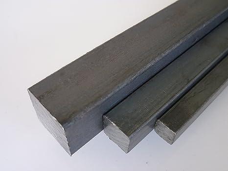 1000 mm +0//-3 mm 1 mtr. schwarz L/änge ca B/&T Metall Stahl Vierkant 40 x 40 mm ST 37 gewalzt