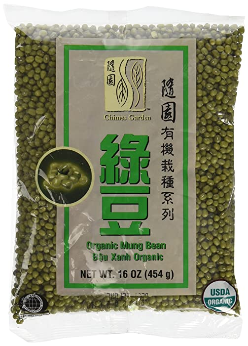 Chimes Garden Organic Mung Beans for Sprouting, Asian Cuisine & More, 16-Ounce Pouches