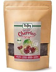 Biojoy Guindas Secas BÍO | 100% ecologico, completamente auténticas, sin azúcar y azufre | guindas enteras, cuidadosamente desecadas y sin hueso | calidad premium bío | Prunus cerasus (0,5 kg)