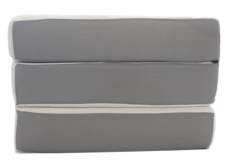 amazon com milliard 6 inch memory foam tri fold mattress with