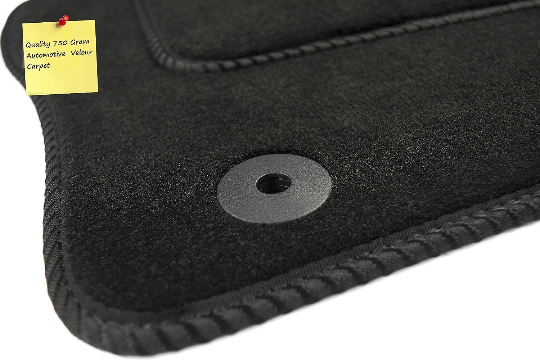 2012 Connected Essentials CEM650 Car Mat Set for Santa Grey with Blue Trim Premium