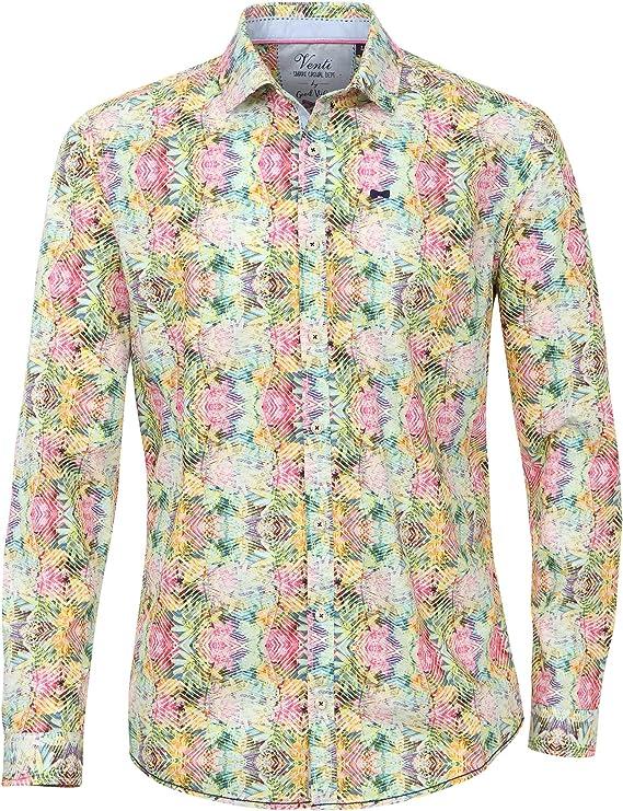 Venti - Camisa Casual - Étnica - para Hombre: Amazon.es: Ropa y accesorios