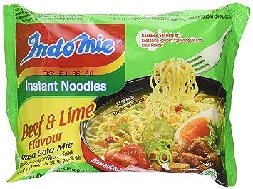 amazon com indomie instant noodles soup rasa soto mie beef lime