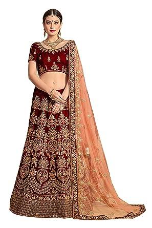 d06083832 RAMDEV EMPERIO Pure Velvet & Net Bridal Lehenga Choli for girls ...