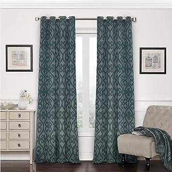 Eclipse Patricia Blackout Grommet Curtain Panel, 84 Inch, Storm Blue
