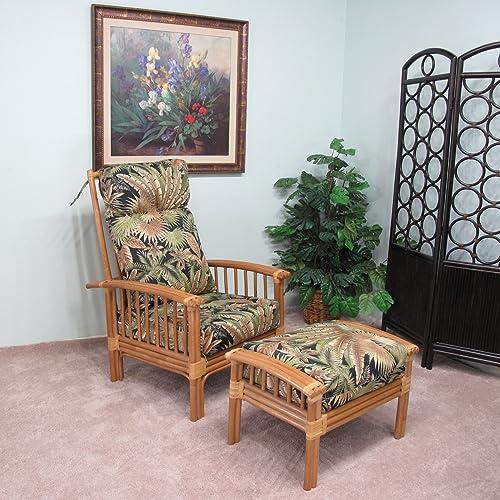 Editors' Choice: kingrattan.com Rattan Hi-Back Chair and Ottoman Cushions Made