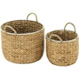 Deco 79 41141 Seagrass Basket Set of 2