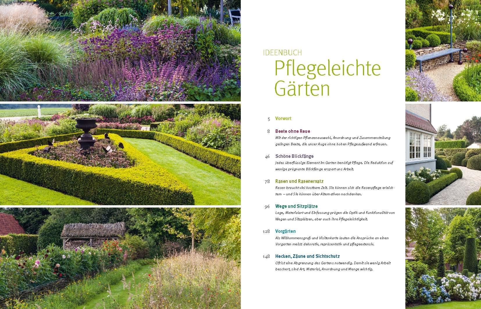 Ideenbuch Pflegeleichte Gärten Amazon Books