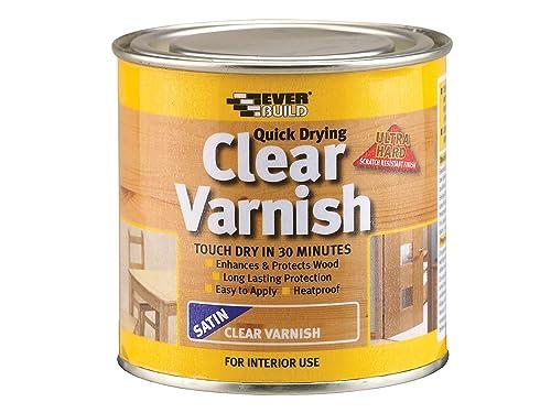 Everbuild EVBWVARCLS02 Quick Dry Wood Varnish Satin Clear 250 ml