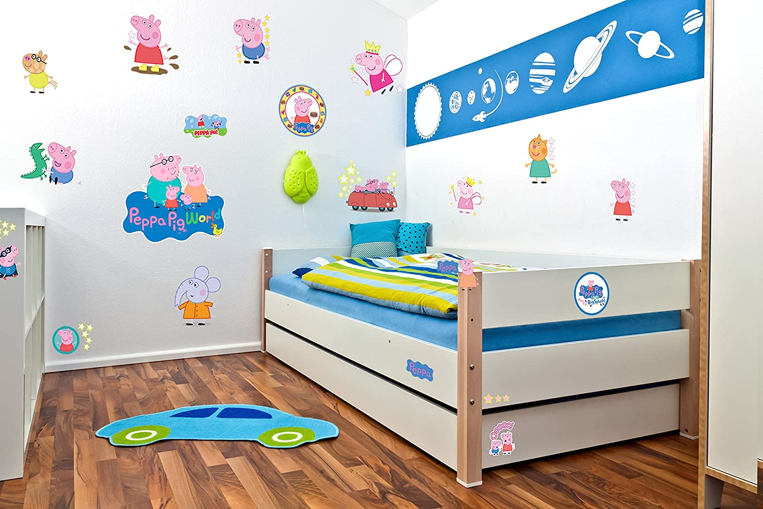 Peppa pig wall stickers decal kids room bedroom children peppa001 peppa pig wall stickers decal kids room bedroom children peppa001 amazon diy tools amipublicfo Images
