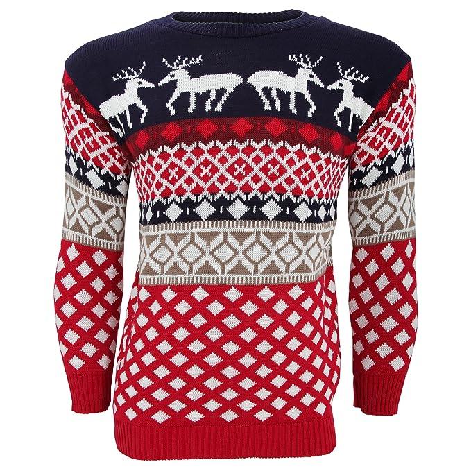aspetto dettagliato ebe26 76459 maglione con renna uomo ...