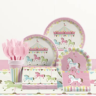 Carousel Party Supplies Kit, Serves 8: Toys & Games