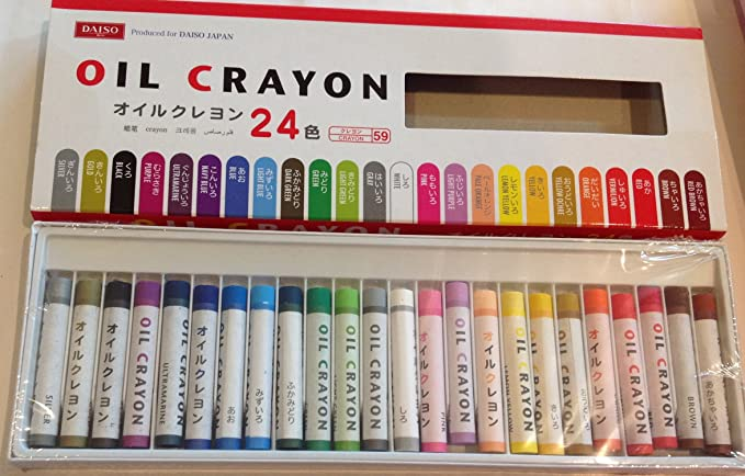 18 Colors Crayons Bold Barrel and Easy to Use,Daiso Japan