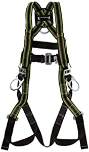 Miller DuraFlex Stretchable Full Body Safety Harness with Side D-Rings & Leg Mating Buckles, Universal Size-Large/XL, 400 lb. Capacity (E650-7/UGN)